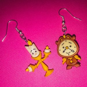 NEW! Disney Earrings/Beauty and The Beast/Disney